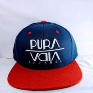 Blue/red adjustable hat